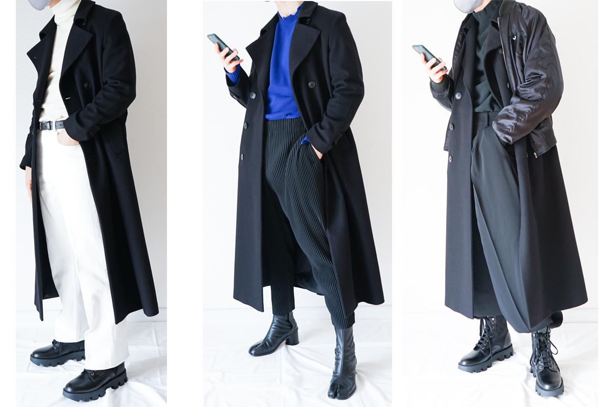 【Hevo】トレンチコートレビュー!黒コートのスタイリング5